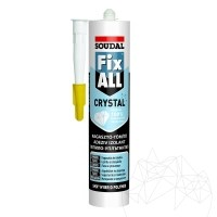 Soudal FIX ALL CLEAR - SKIN flexible slate adhesive 290 ml