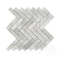 Bianco Carrara Marble Honed Chevron Mosaic