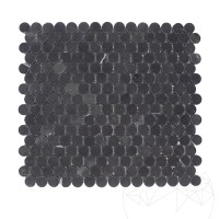 Nero Marquina Marble Honed Penny Mosaic