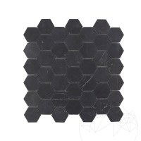 Nero Marquina Marble Honed Hexagonal Mosaic