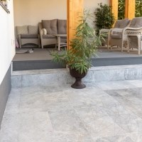 Tundra Grey Cross Cut Sandblasted Marble 61 x 30.5 x 1.2 cm