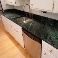 Green Emperador Marble Polished Countertop 250 x 65 x 3 cm