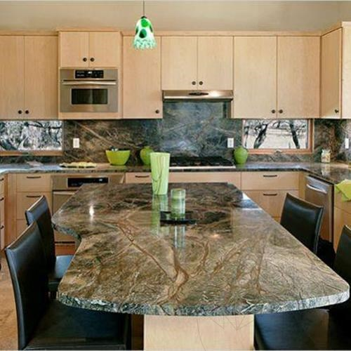 Rainforest Green Marble Polished Countertop 250 X 65 3 Cm