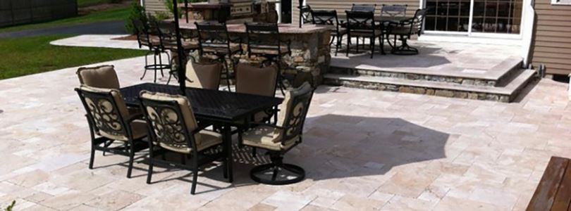 How to clean a natural stone terrace