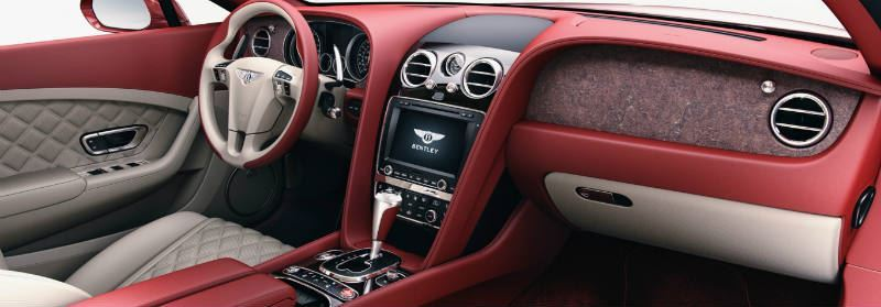 Natural Stone in the new top luxury Bentley models