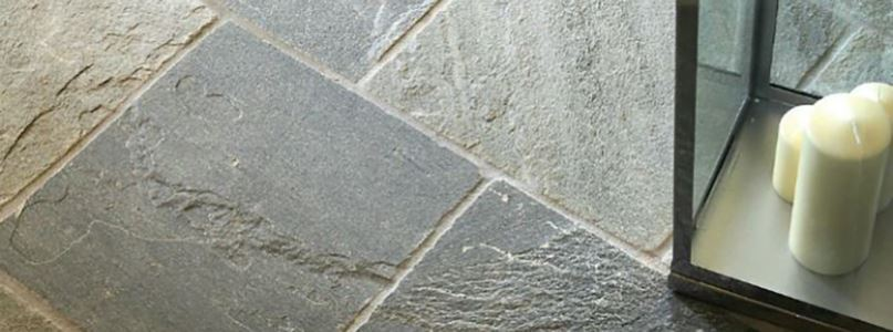 How to remove grout stains from natural stone flooring