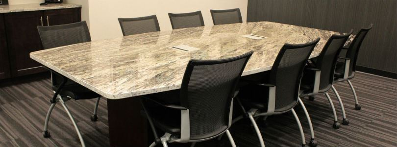 Natural stone in offices and meeting rooms