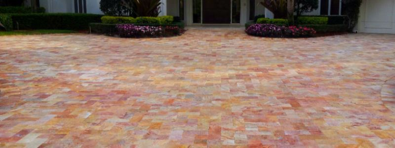 Discover the new Peach Travertine, amazing for exterior paving
