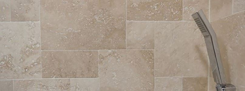 Small bathroom decoration project: Classic Travertine Mini French Pattern