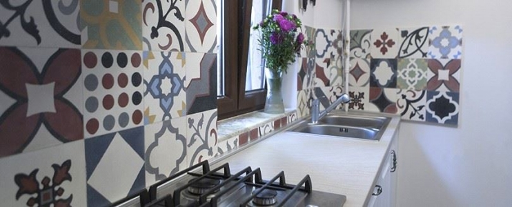 Kitchen design ideas with Silver Travertine & Oriental Terrazzo