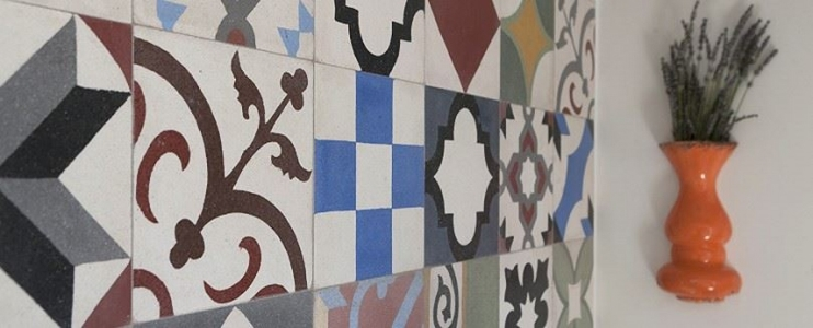The beauty of terrazzo tiles – Inspiration for a terrace wall