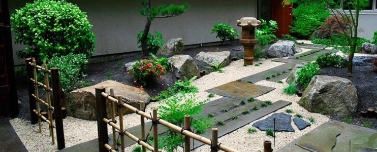 Landscaping Japanese Garden with Natural Stone