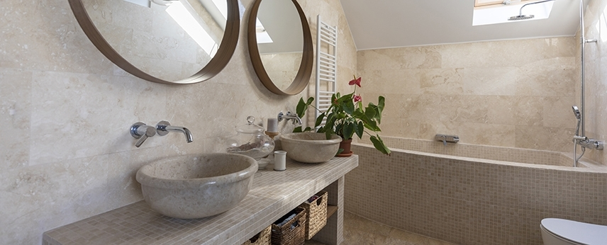 Natural Stone in Small Bathrooms