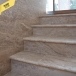 Latte Brushed & Bullnosed Travertine 61 x 30.5 x 3 cm - Stairs & Swimming Pool Border 0